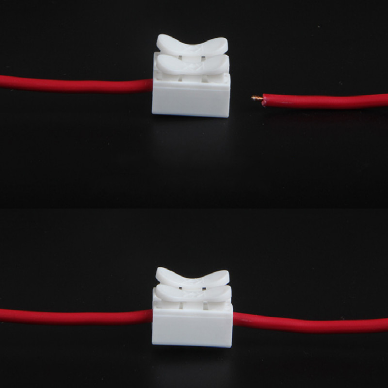 Press type wire connector 3 pin header 3 pin connecto Fast connection fit for 0 5 1 1 5 Square millimeter free shipping in Connectors from Lights Lighting