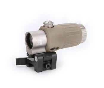 SPINA Optical 33 Airsoft 3X lupa con interruptor a lado rápido desmontable QD montaje para caza arena negra y color rojo