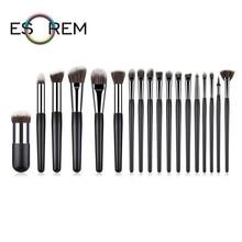 ESOREM 18pcs Makeup Brushes Set Professional Short And Small Loose Powder Make Up Brush Foundation Pincel Maquiagem T-18