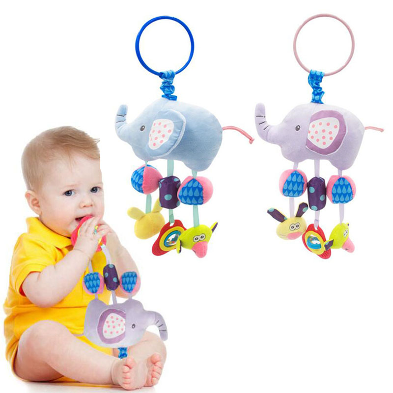 Strollers Accessories Lower Price with Baby Stroller Pendant Plush Fish Cartoon Mirror Pacifier Hanging Bed Cute Toys Soft Squeaky Rattle Newborn Sleeping Infant Kids