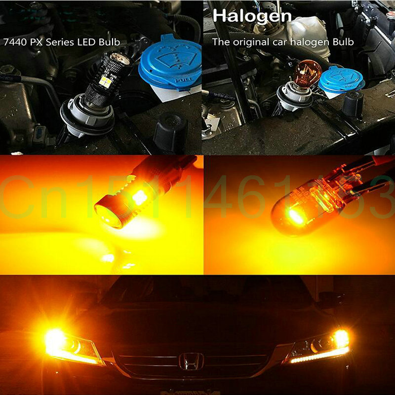 Fog lights running lights turn signals lamp For Nissan Leaf 2016 USA Auto led stop Back-up light bulbs for cars 2pc