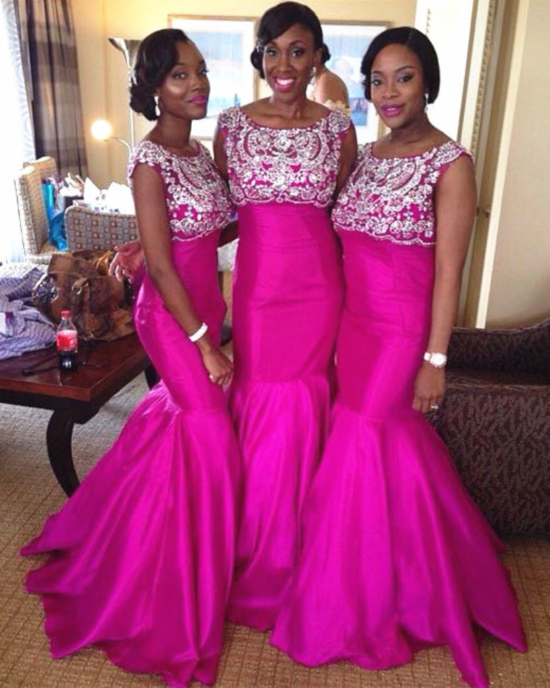 Ankara bridesmaid dresses image collections braidsmaid dress nigerian bridesmaid dresses gallery braidsmaid dress cocktail sexy mermaid crystal rose long latest open back zipper ombrellifo Image collections