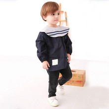 2018 New Childrens Autumn Winter Cottonseed Pure Cotton Smock Anti Baby Rice Dress Navy.