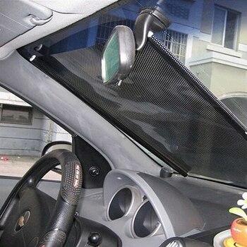 Janela do carro pára-sol rolo retrátil dobrável pára-brisa cortina automática sombra capa preta cego protetor acessórios do carro 125x58c