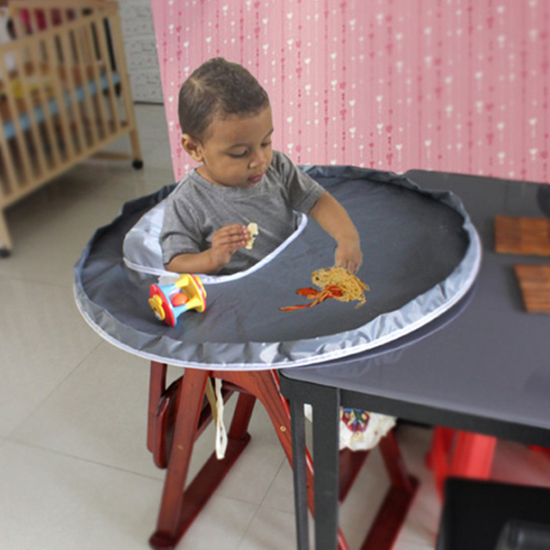 Baby Eating Table Mat Baby Feeding Saucer High Chair Cover For kids Highchair Cover Germ Prevents Food Toys Falling to Floor eating disorders