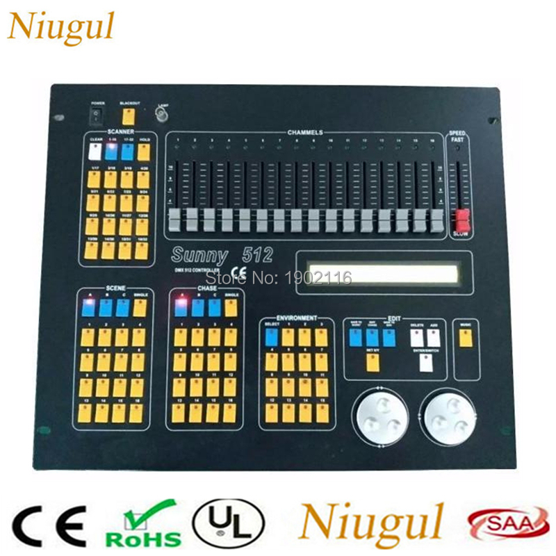 Sunny 512 DMX DJ Controller /DJ Equipment DMX Console For Stage Lighting Effect LED Par Moving Head Lights /DMX512 Controller hot sale lcd wireless dmx 512 transmitter and receiver for stage light moving head dj equipment led lighting 4 output