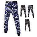 Mens Cargo Harem Pants Jogger Gymshark Pantalon Homme Men Print Military Army Camouflage Drawstring Fear of god Fashion New 2016