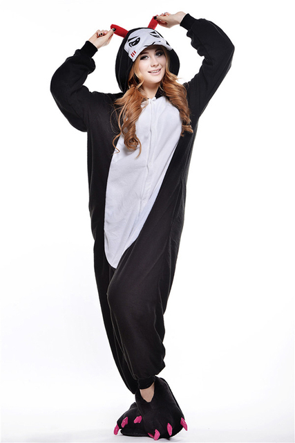 0efc1e619a409 Pyjamas Entero Femmes Sommeil Pyjamas Nuit diable Animal Pyjamas One Piece  Pyjama Femme Accueil Vêtements Pigiami