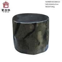 Polished Natural Petrified Wood Fossil End Table Stool Side Table European Countryside Style Home Furniture