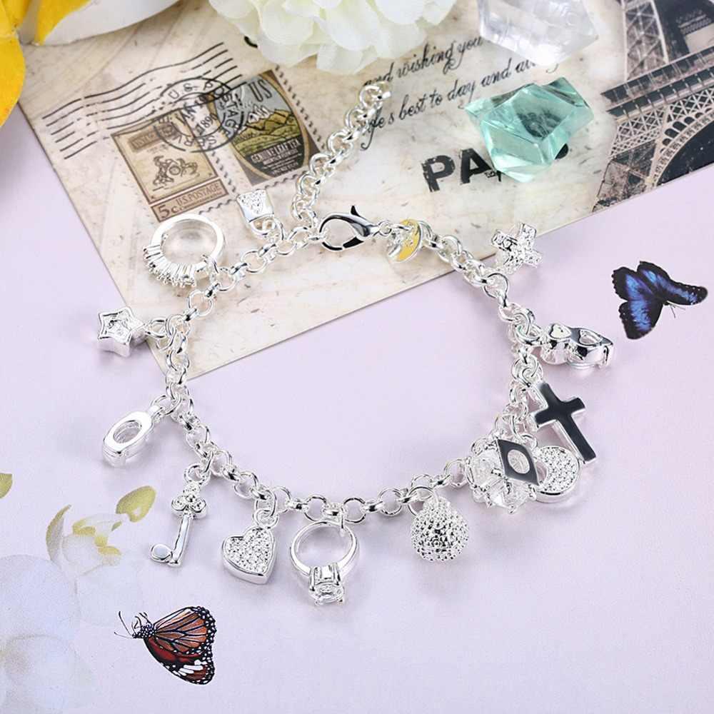 925 סטרלינג כסף 13 תליון צמידי צמידי h144 נשים של תכשיטים