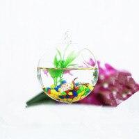 Kostenloser Versand Durchmesser = 12cm 4 teile/paket Hängen Glas Ball Aquarium Kleine Offene Hause Dekoration Glas Terrarium Vase-in Deko-Kugeln aus Heim und Garten bei