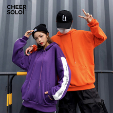 Streetwear Purple Hoodie Women Sweatshirt Pullover Harajuku Patchwork Hoody Orange Hoodie Top Kpop Clothes