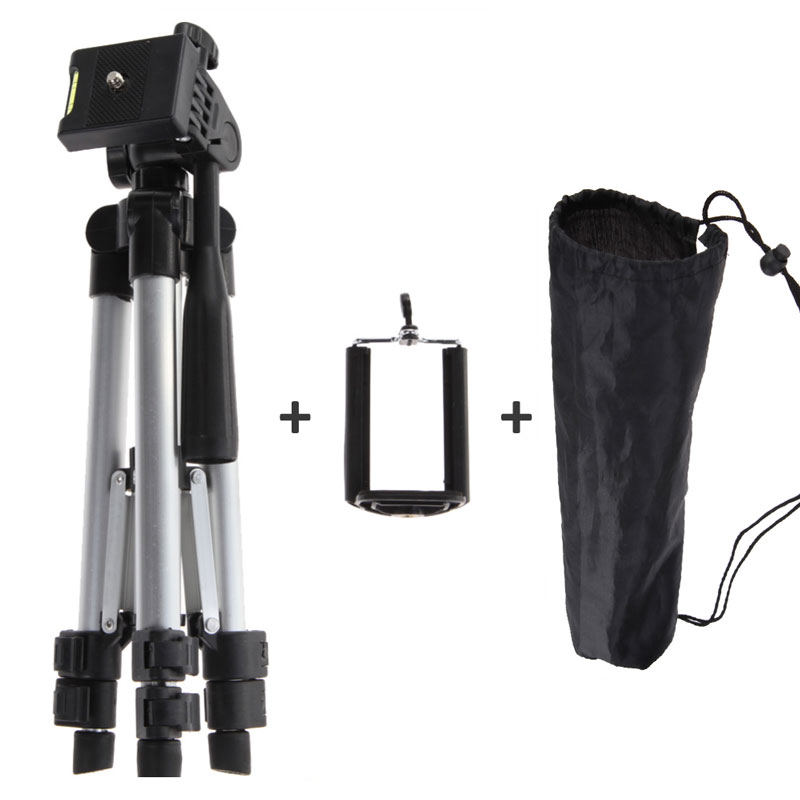 Portable Professional Aluminum Telescopic Camera Tripod Stand Holder For Smart Phone For iPhone For Samsung