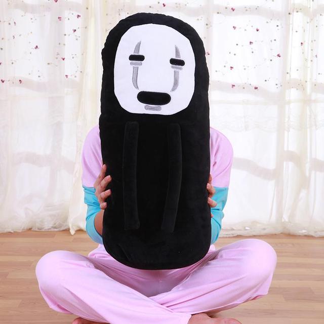 Большой 65 см аниме мультфильм миядзаки хаяо унесенные призраками нет лица тоторо плюшевые игрушки мягкая кукла животных для девочек подарок