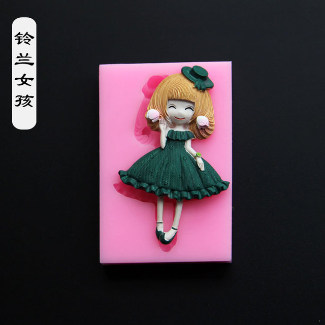 11 models Luyou DIY Silicone mold Girl fondant mold cake decorating tools chocolate mould  FM1086