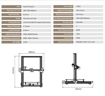 2019 Newsest TEVO Tornado Impressora 3D totalmente montada Impressão 3D 300 * 300 * 400mm Área de impressão grande Kit de impressora 3D 1
