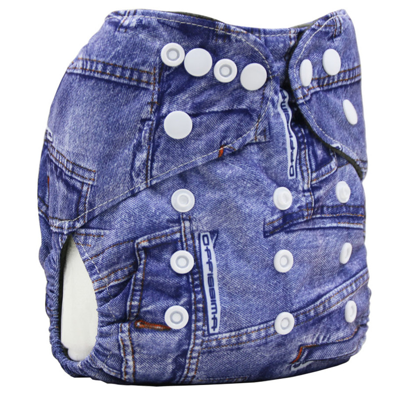 Bamboo Charcoal Inner Baby Cloth Diaper Reusable Nappies Waterproof PUL Diaper Cover Washable Infant Diapers One Size Fits Nappy