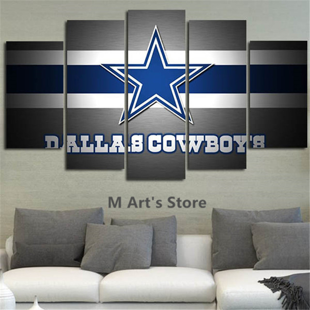 5piece wall art painting canvas printed posters painting home decor cowboys poster picture for room canvas