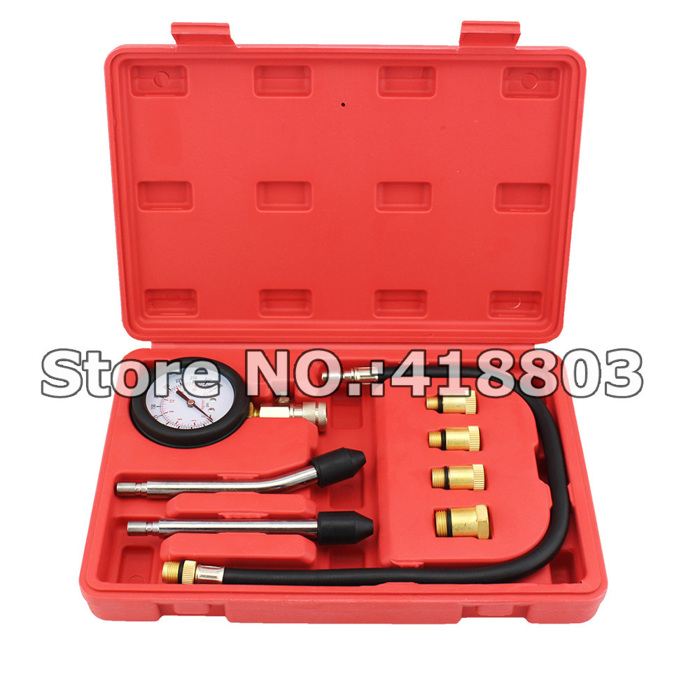 Petrol Gasoline Engine Cylinder Compression Tester Kit Engine Pressure  Gauge With 4 Size Adaptor-in Engine Care from Automobiles & Motorcycles on