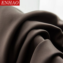 ENHAO Modern Solid Blackout Curtains for Living Room Bedroom Kitchen Window Drapes Blinds Panel