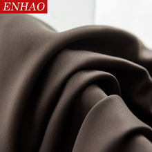 ENHAO Modern Solid Blackout Curtains for Living Room Bedroom Kitchen Curtains for Window Blackout Curtains Drapes Blinds Panel(China)