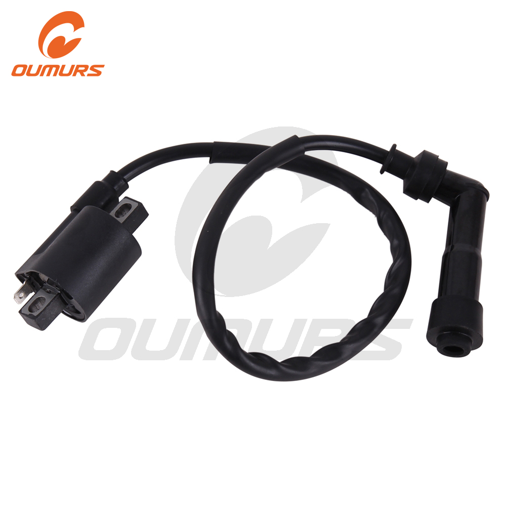 OUMURS Motorcycle ATV Ignition Coil Fits For Yamaha Warrior YFM 350 GRIZZLY YFM600 Bear Tracker 250 1989-2004