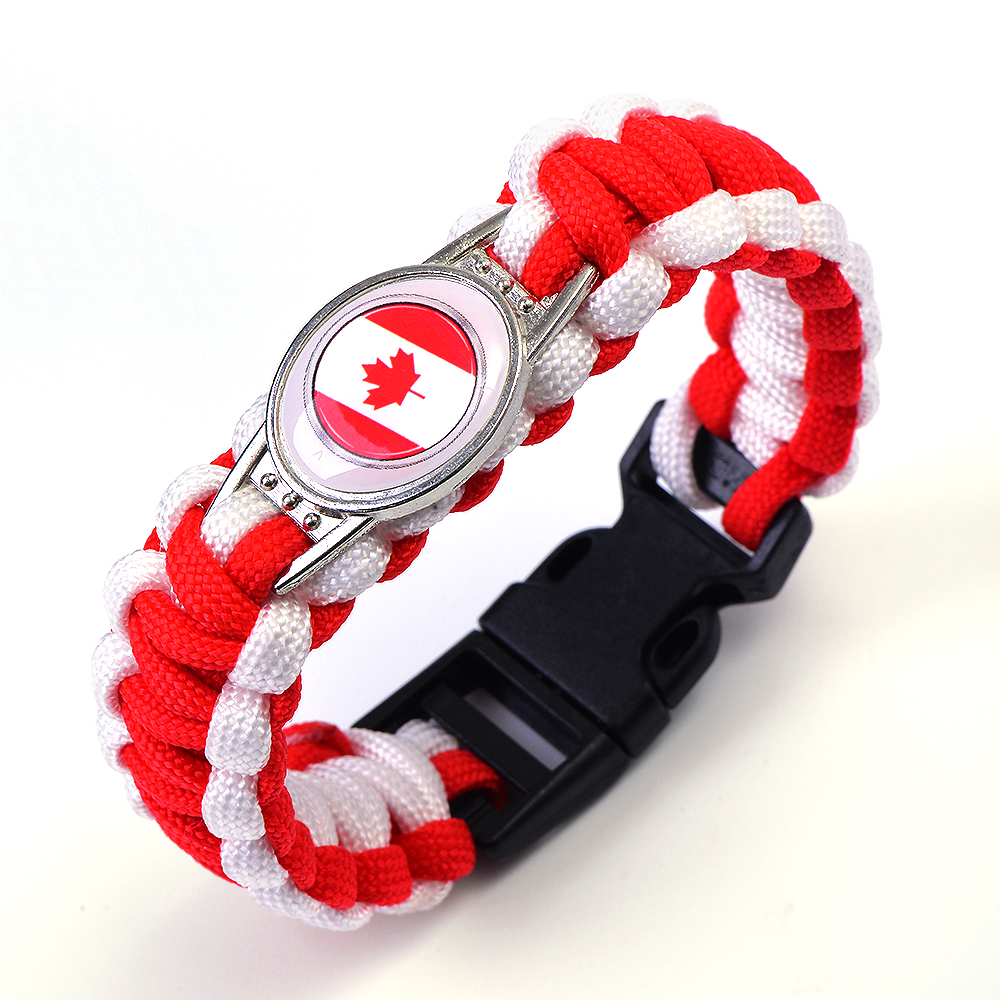 Canadian football flag lifeline seven life umbrella rope bracelet. It is an opening cere ...
