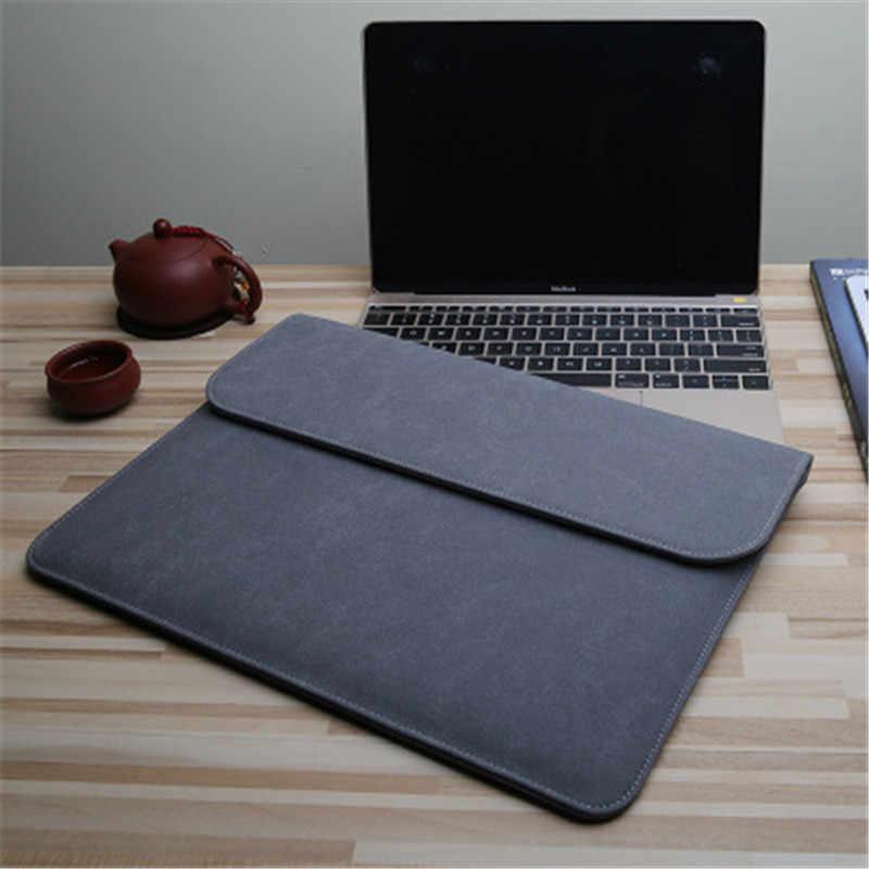 Matte PU Power Pack torba na laptopa do Macbook Retina 11 12 15.4 Case nowa 13 15 osłona paska dotykowego do Xiaomi Air 13.3 Pro 15.6