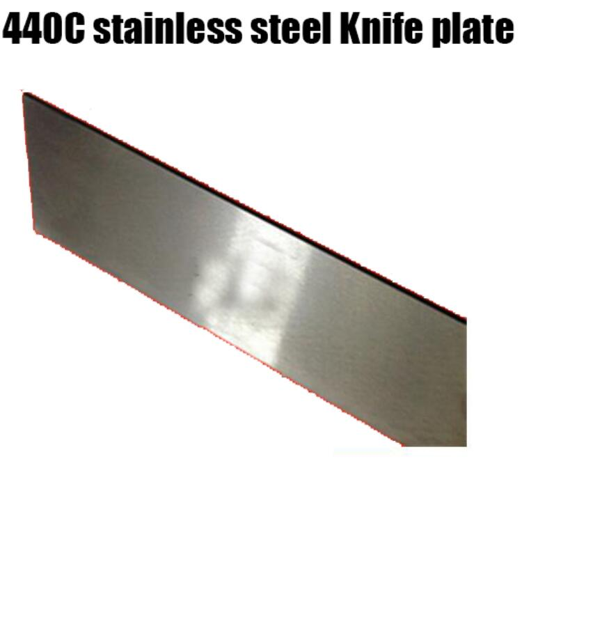 Quench heat treatment Polishing 440C stainless steel font b Knife b font Blade plate HRC56 58
