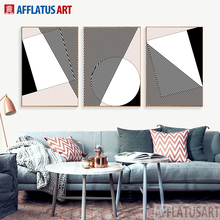 AFFLATUS Nordic Classic Master Level Abstract Ideas Canvas Painting Large  Wall Art Print Poster Wall Pictures