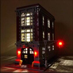 LED licht up kit für lego 75827 und 16001 Ghostbusters Feuerwache Hauptsitz Modell Gebäude Kits Modell se