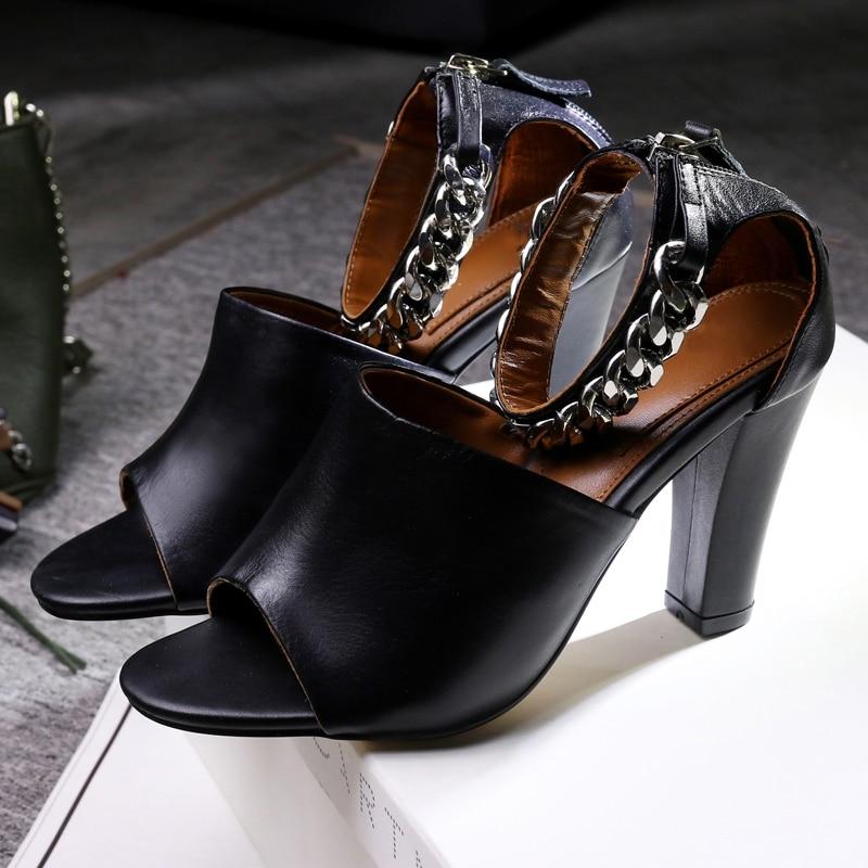ФОТО High quality sexy women shoes sandals 2017 gladiator super high block heels peep toe ladies shoes big size 41 42 43 solid black