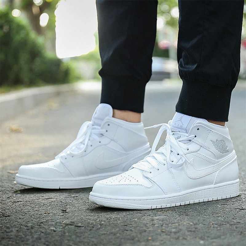 first rate 978bb eda8e ... NIKE AIR JORDAN 1 MID AJ1 Original Mens Basketball Shoes Stability  Breathable High Quality Sneakers For ...