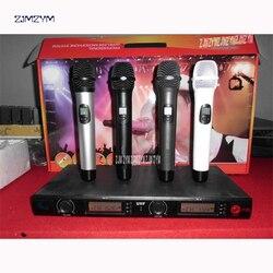 UGX 88 mikrofon bezprzewodowy zestaw mikrofon System automatyczny czujnik podczerwieni na częstotliwości dla KTV Karaoke w klasie spotkanie w całości z metalu crash rury w Systemy konferencyjner od Komputer i biuro na