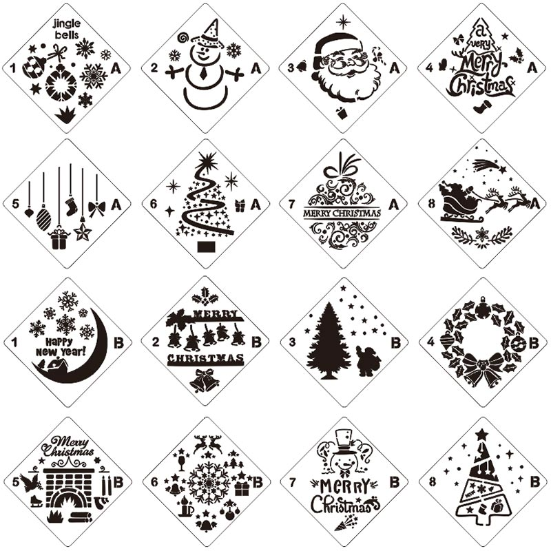 Aliexpress.com : Buy Merry Christmas Set Sticker Painting