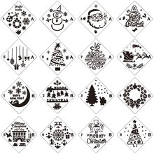 Merry Christmas Set Sticker Painting Stencils for Diy Scrapbooking Stamps Home Decor Paper Cards Template Decoration Album merry christmas tree sticker painting stencils for diy scrapbooking stamps home decor paper card template decoration album craft