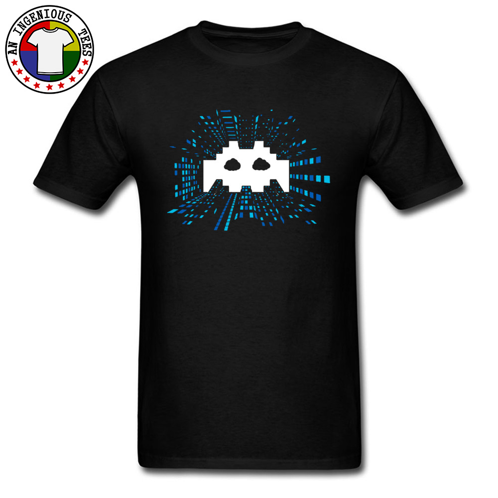 Techno-Android-Music April FOOL DAY 100% Cotton Round Neck Tops Shirts Short Sleeve Comics Tee Shirts High Quality Crazy Tshirts Techno-Android-Music black