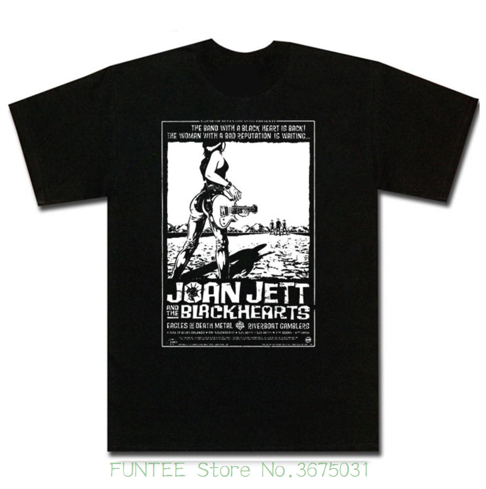 Joan Jett and The Blackhearts Rock Music Men/'s Black T-Shirt Size S to 3XL