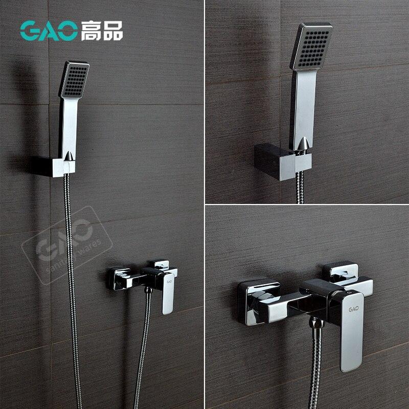 Free Shipping Wall Mounted Bathtub Faucet Bathtub Shower Mixer Wall Mounted Chrome Finish Shower Set Shower