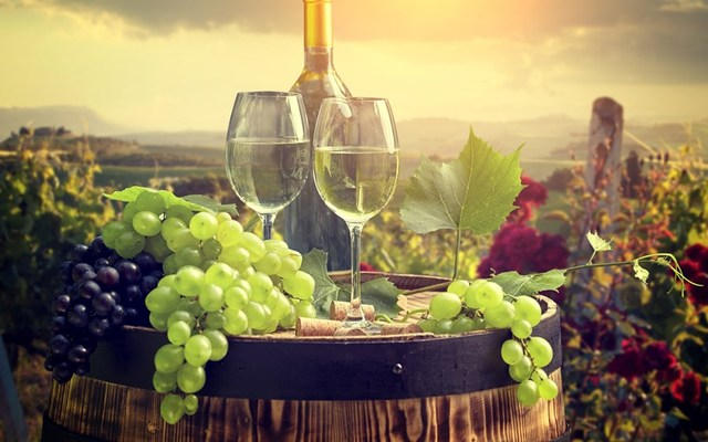 barrel bottle wine glass cork grapes food fruits photo landscape ...
