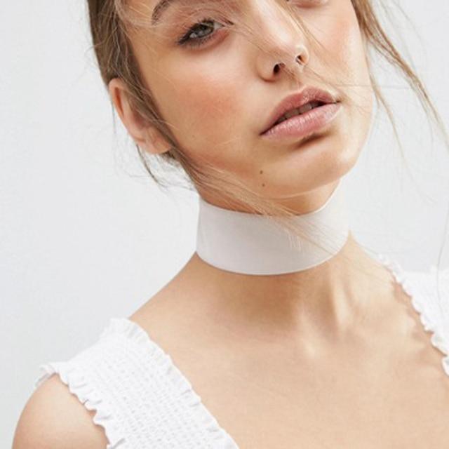 Été nouveaux accessoires de bijoux de mode large noir dentelle tatouage collier ras du cou pour couple amoureux N145