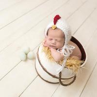ファッション熱い販売子供子供のウールの帽子ヨーロッパ赤ちゃん百日ひよこ写真プロップcap (0-6monthes)