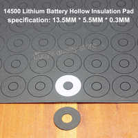100pcs/lot 5th Battery Positive Meson 1 14500 Lithium Hollow Tip Insulation Washer Fast Paper