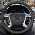 Black Leather Car Steering Wheel Cover for Chevrolet Captiva 2007-2014 Silverado GMC Sierra 2007-2013 Daewoo Winstorm