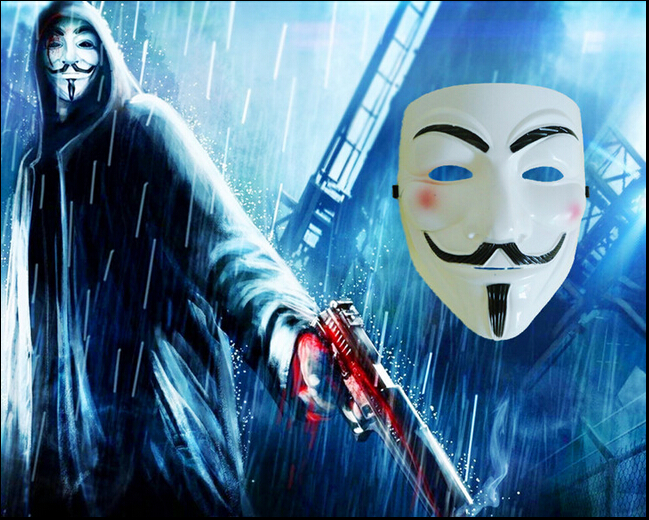 Hot Sale Guy Fawkes Mask High Quality PVC V for Vendetta Cosplay Movie Party Costume Masque Halloween Mascara Masquerade Mask