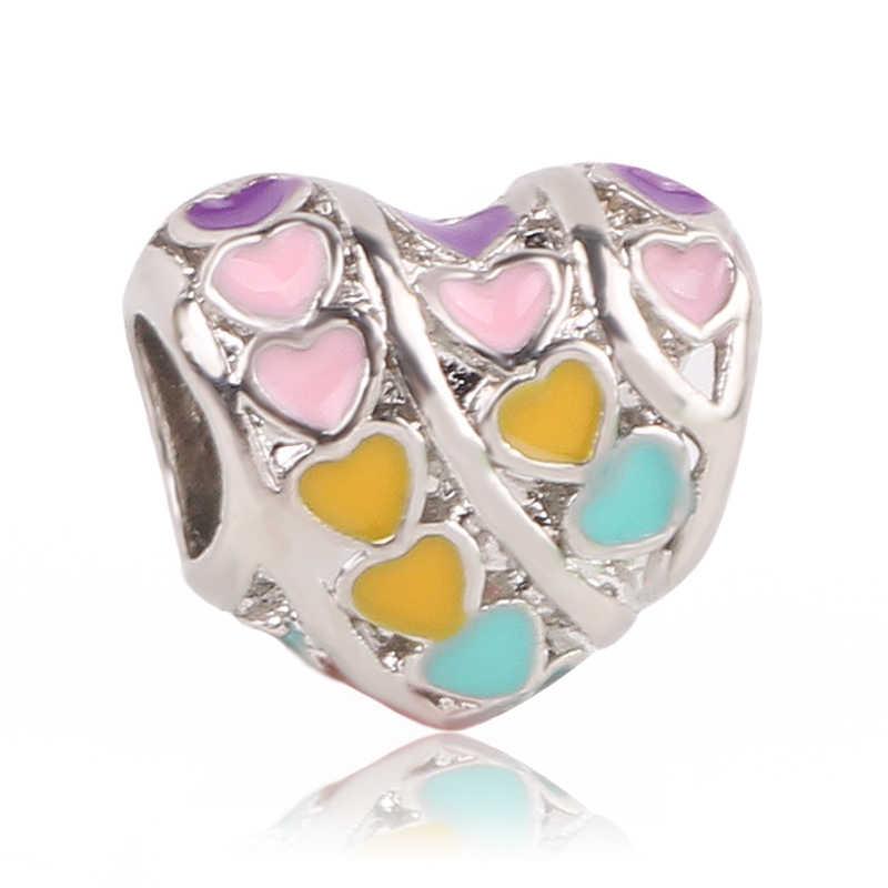 Женский браслет dodocharms, бисер серебряного цвета в виде цветов радуги, подходит для ювелирных изделий, 2020