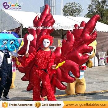 Spedizione gratuita 2X2 M rosso gonfiabile ali di angelo ali costume gonfiabile per la promozione vivid ali di farfalla stadio abbigliamento giocattoli