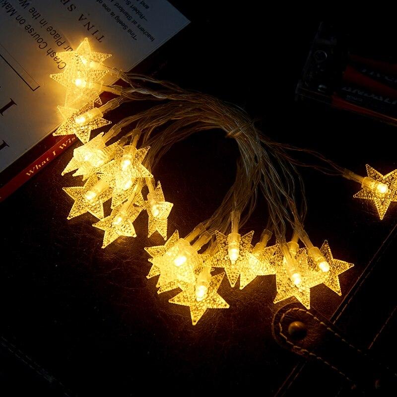 Luces de hadas decorativas de boda para fiesta de Navidad con batería de luz LED de estrella Tira de LED SMD 2835 60led ip22 12v murió