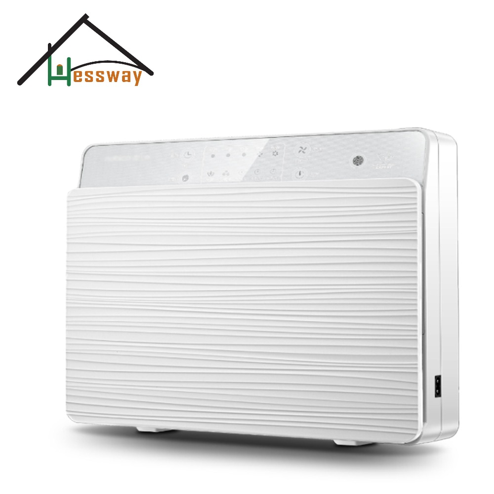 Wall mounted remote control air purifier UV lamp negative ion sterilization HEPA cold catalyst with Household