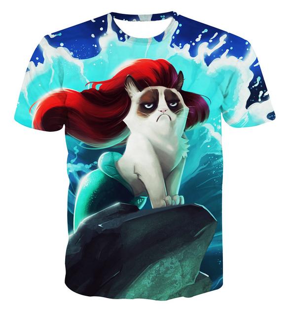 Mermaid Cat T-Shirt